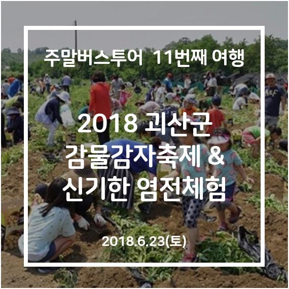 주말버스투어 11번째여행_2018 괴산군 감물감자축제 & 신기한 염전체험